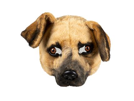 BLD-56755 Plüsch-Halbmaske Hund