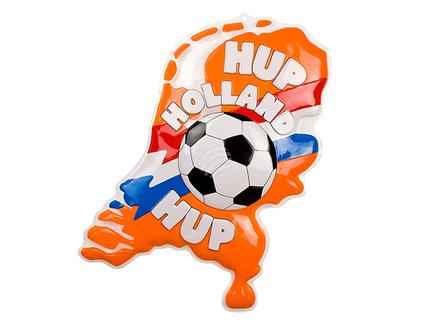 BLD-61722 PVC Wanddekoration 'Hup Holland Hup' (80 x 70 cm)