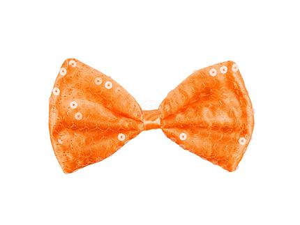 BLD-61817 Fliege Pailletten Orange