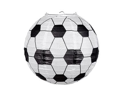 BLD-62504 Laterne Papier Football mit Stahldraht Rahmen (25 cm)