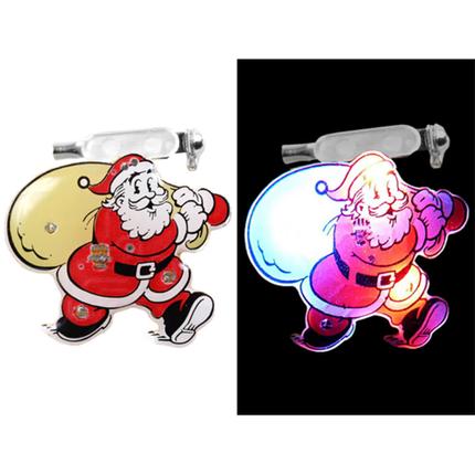 BL-050 Blinki Blinker rot beige Weihnachtsmann