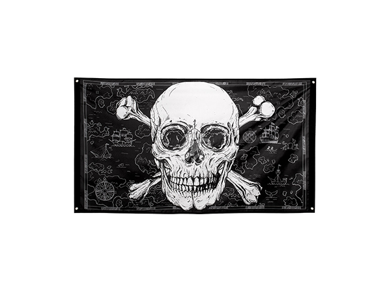 BLD-74108 Polyester Fahne Piraten (90 x 150 cm)