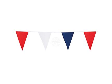 BLD-75369 Polyester Wimpelkette rot/weiss/blau (10 m)