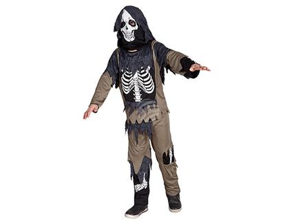 BLD-78048 Kinderkostüm Zombie Skelett (4-6 Jahre)