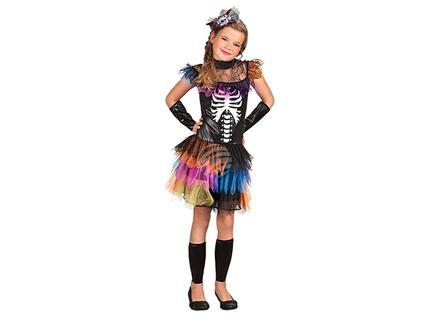BLD-78103 Kinderkostüm Skelett Prinzessin (10-12 Jahre)