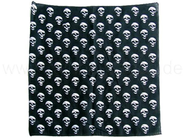BA-041 Bandana Kopftuch Halstuch Design: Totenköpfe mit Augenklappe Farbe: schwarz