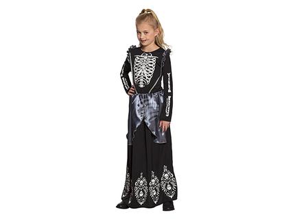 BLD-78131 Kinderkostüm Skelett queen (4-6 Jahre)