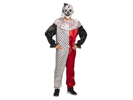 BLD-79152 Erwachsenenkostüm Psycho Clown (M/L)