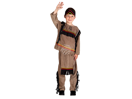 BLD-82180 Kinderkostüm Indianer Big bear (10-12 Jahre)