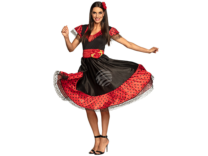 BLD-83622 Erwachsenenkostüm Flamenco Frau (40/42)