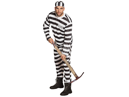 BLD-83818 Erwachsenenkostüm Gefangene Jackson (M/L)