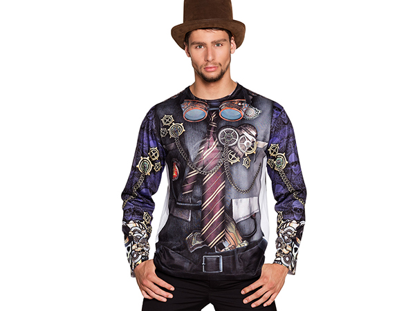 BLD-84180 Fotorealistisches Shirt Mr Steampunk (L)