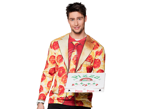 BLD-84196 Fotorealistisches Shirt Pizza pepperoni (XL)