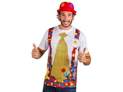 BLD-84225 Fotorealistisches Shirt Clown (L)