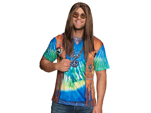 BLD-84293 Fotorealistisches Shirt Peace man (M)