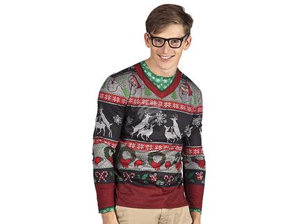 BLD-84355 Fotorealistisches Shirt Bescheuerte Weihnachten (XL)