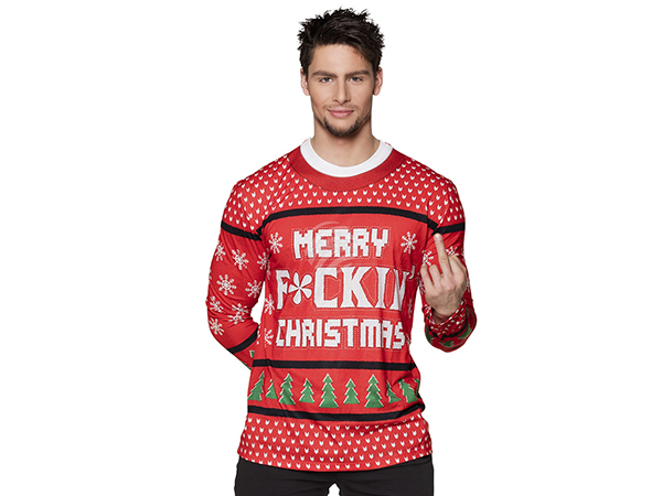 BLD-84367 Fotorealistisches Shirt 'Merry f*ckin' Christmas' (XL)