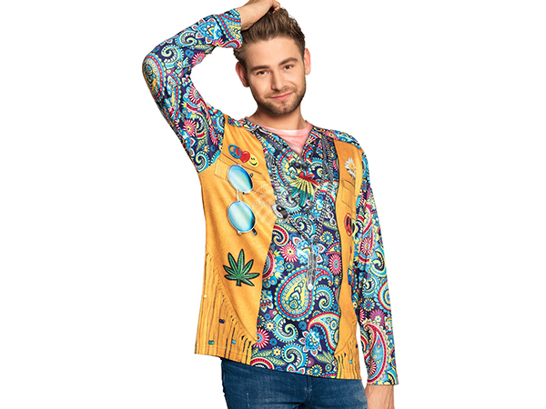 BLD-84414 Fotorealistisches Shirt Hippie (XL)