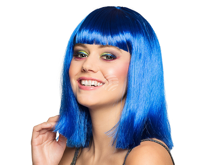 BLD-85768 Perücke Dance blau