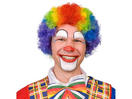 BLD-85926 Perücke Clown Curly vielfarbig
