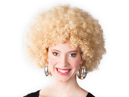 BLD-86013 Perücke Afro blond