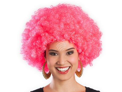 BLD-86019 Perücke Afro rosa