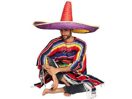 BLD-95473 Sombrero Zapata vielfarbig (100 cm)