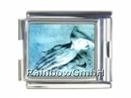 N-167 Italian Charm mit Motiv Betende Hände Silber Blau