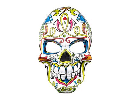 BLD-97039 Gesichtsmaske Mr Day of the dead