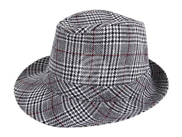 TH-03 Trilby Clubstyle Hüte fein kariert.