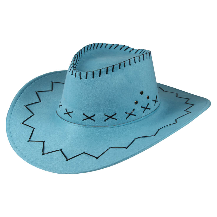 CW-25 Cowboyhut Design: Zick Zack Muster Farbe: hellblau