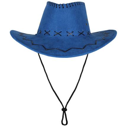 CW-26 Cowboyhut Design: Zick Zack Muster Farbe: blau – Bild 2