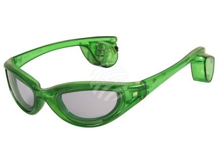 LB-03 LED Leuchtbrille grün Motiv:  Sportbrille – Bild 3