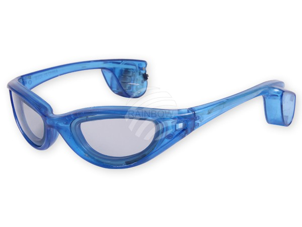 LB-02 LED Leuchtbrille blau Motiv:  Sportbrille – Bild 3
