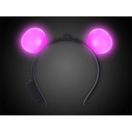 MO-02 LED Haarreifen pink Motiv:  Mausohren