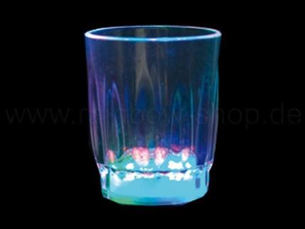 LG-03 LED Trinkglas transparent Motiv:  Schnapsglas