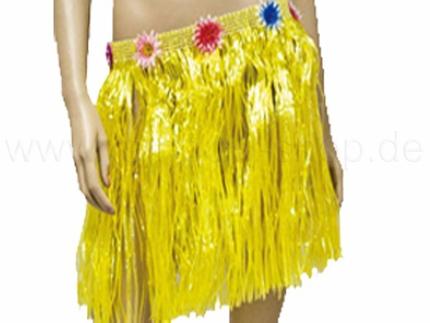 BR-k02 Hawaii-Baströcke - kurz - Farbe gelb