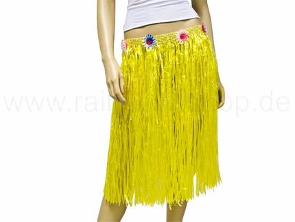 BR-l02 Hawaii-Baströcke - lang - Farbe gelb