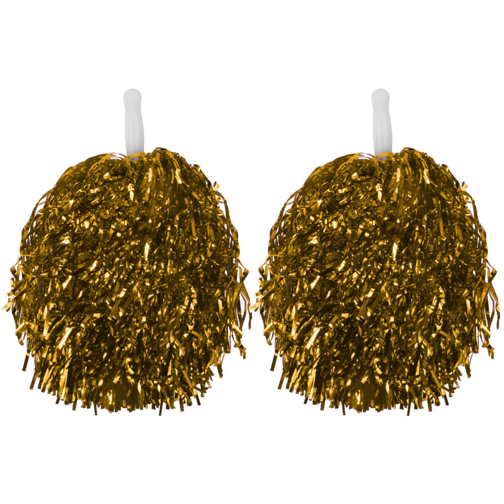 CP-03 Pompoms Cheerleading gold ca. 36 cm 2 Pompoms in einer Packung