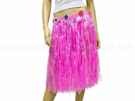 BR-l07 Hawaii-Baströcke - lang - Farbe pink