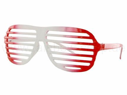 V-820KOLN VIPER Damen und Herren Sonnenbrille Form: Shuttershades, Atzenbrille Farbe: rot und weiß