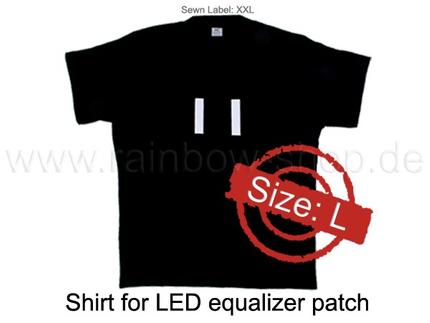 Shirt-L Shirt für EL Folie schwarz