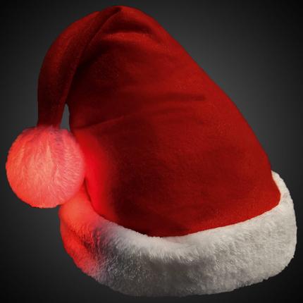 WM-114 Weihnachtsmütze mit leuchtendem Bommel   – Bild 1