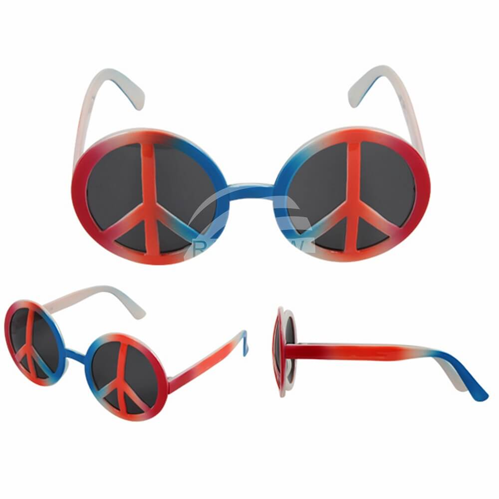 F-022 Fun Party Brille Form: Peace Farbsortierung – Bild 3