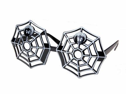 F-029 Fun Party Brille Form: Spinnennetz Farbe: schwarz