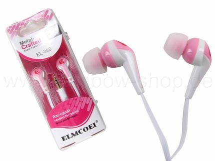 KO-47 pink  Stereo In-Ohr Kopfhörer Großhandel verschiedene Farben sortiert