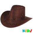 CW-05a Cowboyhut für Kinder Design: Zick Zack Muster Farbe: dunkelbraun