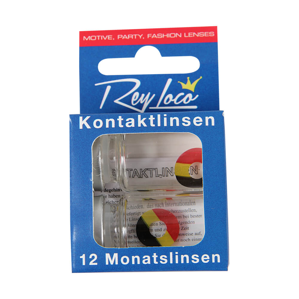 KL-b Weiche getönte Kontaktlinse Belgien schwarz gelb rot – Bild 2