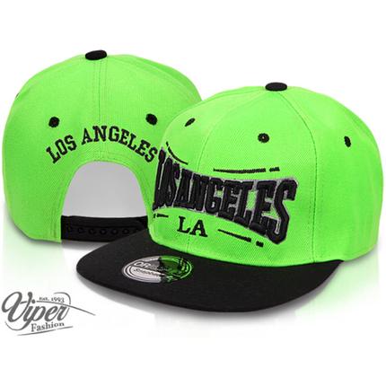 CAP-16LA Snapback Flatbrim Cap  Los Angeles  Farbe: grün / schwarz