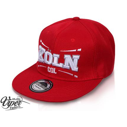 "CAP-COL01 Snapback Flatbrim Cap ""Köln"" Farbe: rot – Bild 2"
